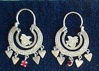 Mayan Antique Silver Earrings #21