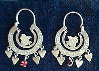 Mayan Antique Silver Earrings #21