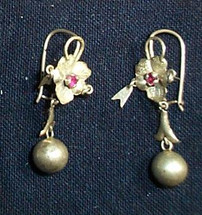 Mayan Antique Silver Earrings #8