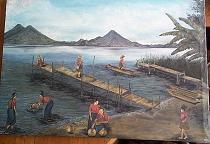 Francisco Sajvin -- The Lake at San Antonio Palopo