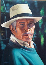 Juan Diego Sisay -- Man with Panama Hat