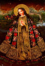 Our Blessed Lady -- Cusco School Painting