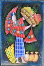 Felipe Chavez Hardboard Painting Patzun