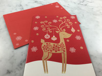 Warm Wishes Reindeer Gift Card