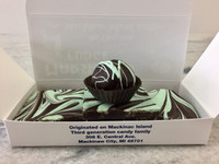 St. Patrick's Special - One 1/2 pound slice of fudge, Dark Chocolate Mint Bark and a Creme de Mint Truffle