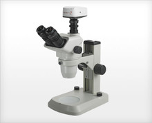 Accu-Scope 3075 Trinocular Zoom Stereo Microscope on E-LED Stand