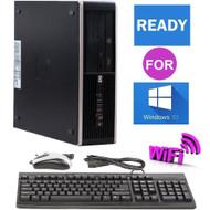 "1 FAST HP Desktop Computer PC Core 2 Duo 3.0GHz  8GB 1TB Windows 10 Wi-Fi 19"" LCD"