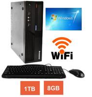 IBM Lenovo Thinkcentre M58 PC Desktop Computer Core 2 Duo 3.0GHz 8GB 1TB DVD Windows 7 WIFI