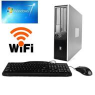 HP DUAL CORE 3.4 GHZ DESKTOP COMPUTER PC 4GB RAM, 160GB HDD, WINDOWS 7 PRO + WIFI