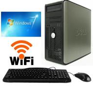 FAST Dell Desktop Computer PC Core 2 Duo 250GB 8GB Windows 7 PRO 64 Bit WIFI