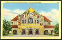 Stanford University Postcard - Memorial Chapel