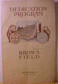 Brown Field Dedication Program 1925 vs. Yale