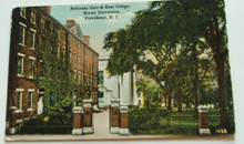 Brown University Postcard - Robinson Gate & Hope College