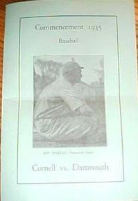 Baseball Program - Cornell v. Dartmouth 1935