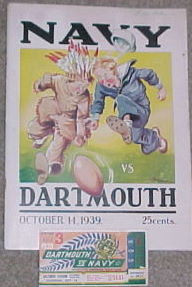 Dartmouth v. Navy Football Program 1939
