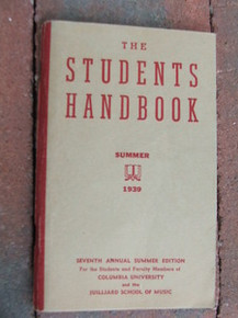 Columbia University Students Handbook 1939
