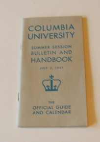 Columbia University Students Handbook 1941