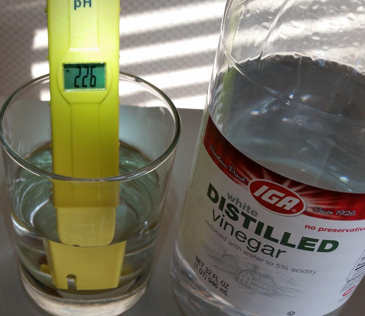 pH balance of Vinegar