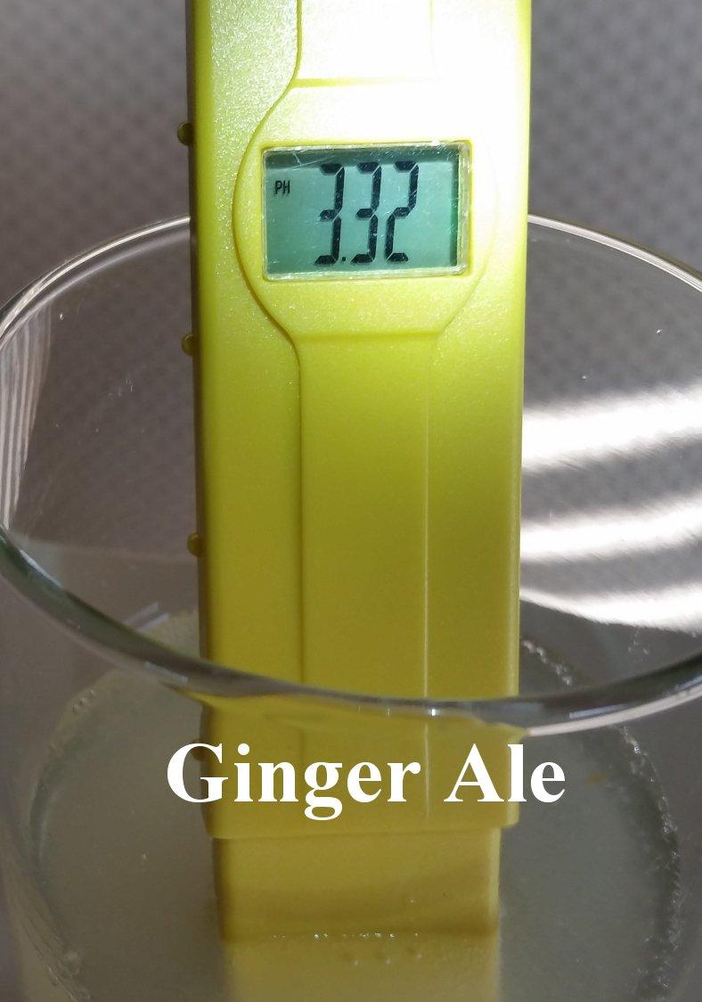 pH balance of ginger ale
