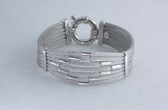 Womens Pure Italian Silver Bracelet With Big Classic Clasp - LC231