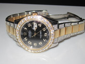 Mens Rolex Datejust II 18K Gold Diamond Watch