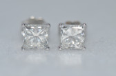 14k Princess Cut Diamond Stud Earrings - EK04