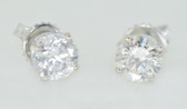 14k Round Cut Diamond Stud Earrings - EK18