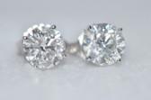 Round Cut Diamond Stud Earrings - EK30
