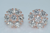 14K Pink Gold Fancy Diamond Earrings - EK33