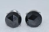 5.31 Carat Black Rose Cut Diamond Stud Earrings - EK42