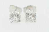 Round Cut Diamond Stud Earrings - EK44