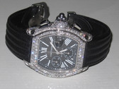 Mens Cartier Roadster Chronograph Diamond Watch