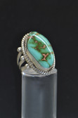 Womens Designer Turquoise Silver Ring- LC307