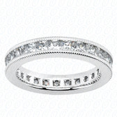Princess Channel Set Diamond Eternity Band - MCET1035