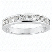 Princess Channel Set Half Diamond Eternity Band - WB5247