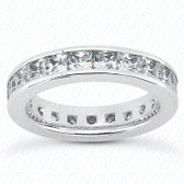 Princess Channel Set Diamond Eternity Band - MCET1031