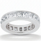 Princess Channel Set Diamond Eternity Band - EWB160-2.5x2.5
