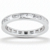 Baguette Channel Set Diamond Eternity Band - EWB438
