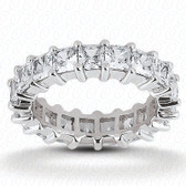 Princess Prong Set Diamond Eternity Band - EWB229