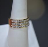 1.00 tcw Diamond 3 Row Anniversary Ring