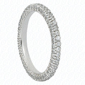 Round Brilliant Bead Set Diamond Eternity Band - EWB481-1