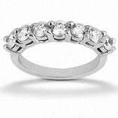 Round Brilliant 7 Stone Prong Set Diamond Wedding Band - WB2758