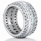 Princess Channel Set Diamond Combination Eternity Band - EWB273
