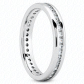 Round Brilliant Channel Set Diamond Eternity Band - MCET1000