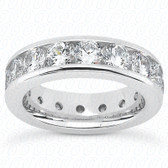 Round Brilliant Channel Set Diamond Eternity Band - MCET1008-S6
