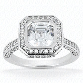 As Shown : Asscher Cut Diamond Measures 5 x 5mm (Approximately 0.80 tcw)