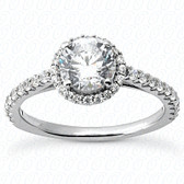 As Shown : Round Center Diamond is Approximately 1.00 tcw