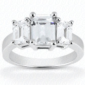 As Shown : Princess Cut Diamond Measures 10 x 8mm (Approximately 3.00 tcw)