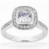 As Shown : Princess Cut Diamond Measures 6.5 x 6.5mm (Approximately 1.50 tcw)