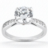 As Shown : Round Center Diamond is Approximately 2.00 tcw